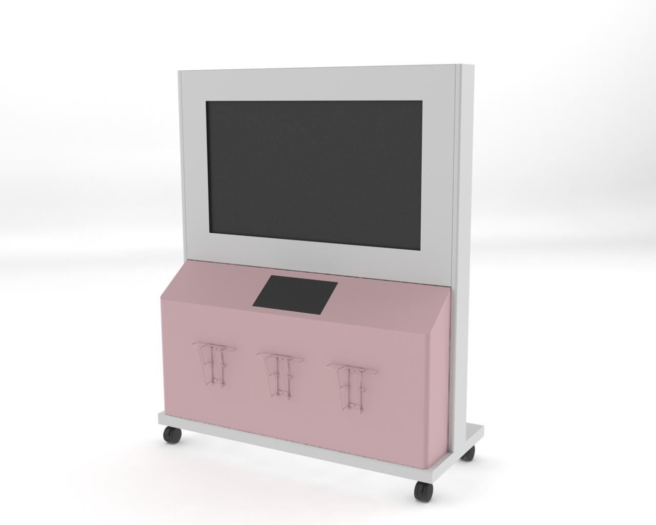 ケーシング タッチパネル+横型ディスプレイ